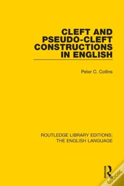 Wook.pt - Cleft And Pseudo-Cleft Constructions In English