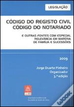 Código do Registo Civil - Código do Notariado