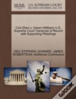 Coit (Dan) V. Green (William) U.S. Supreme Court Transcript Of Record With Supporting Pleadings