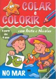 Colar e Colorir - No Mar