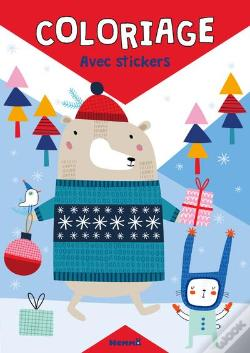 Wook.pt - Coloriage Avec Stickers (Noel- - Ours)