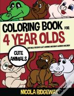 Coloring Book For 4 Year Olds (Cute Animals)