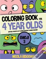 Coloring Book For 4 Year Olds (Emoji 3)