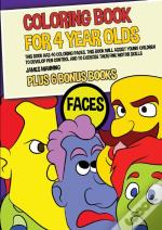 Coloring Book For 4 Year Olds (Faces)