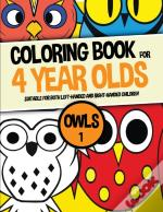 Coloring Book For 4 Year Olds (Owls 1)
