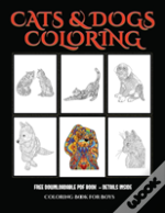 Coloring Book For Boys (Cats And Dogs)
