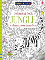 Colouring Book Jungle With Rub Down Transfers X5