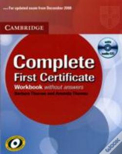 Wook.pt - Complete First Certificate Workbook With Audio Cd