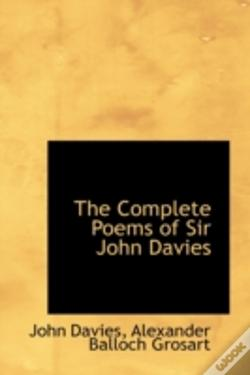 Wook.pt - Complete Poems Of Sir John Davies