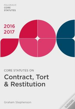 Wook.pt - Core Statutes On Contract, Tort & Restitution 2016-17