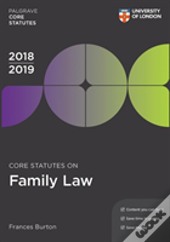 Core Statutes On Family Law 2018-19