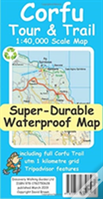 Corfu Tour & Trail Super-Durable Map