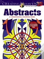 Creative Haven 3-D Abstracts Coloring Book