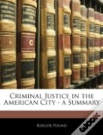 Criminal Justice In The American City -