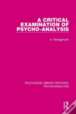 Wook.pt - Crit Exam Of Psycho Analysis Rle
