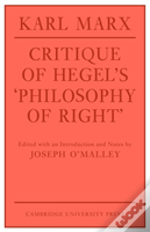 Critique Of Hegel'S 'Philosophy Of Right