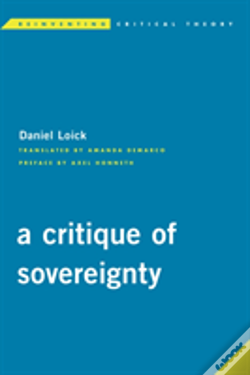 Wook.pt - Critique Of Sovereignty