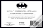 Dc Comics: Batman Embossed Foil Note Cards (Set Of 10)