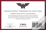 Dc Comics: Wonder Woman Embossed Foil Note Cards (Set Of 10)