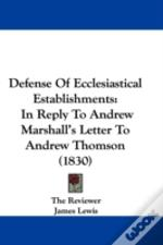 Defense Of Ecclesiastical Establishments
