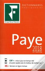 Dictionnaire Paye 2018