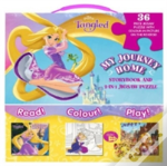 Disney Princess Tangled My Journey Home Storybook And 2-In-1 Jigsaw Puzzle