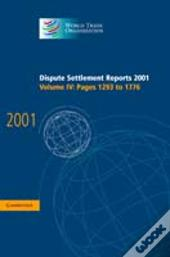Dispute Settlement Reports 2001: Volume 4, Pages 1293-1776pages 1293-1776