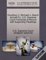 Donahoe (J. Michael) V. Beech Aircraft Co. U.S. Supreme Court Transcript Of Record With Supporting Pleadings