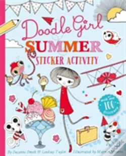 Wook.pt - Doodle Girl Sticker Colouring Book 1