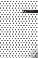Dots Pattern Composition Notebook, Dotted Lines, Wide Ruled Medium Size 6 X 9 Inch (A5), 144 Sheets Gray Cover