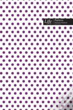 Dots Pattern Composition Notebook, Dotted Lines, Wide Ruled Medium Size 6 X 9 Inch (A5), 144 Sheets Purple  Cover