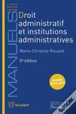 Droit Administratif Et Institutions Administratives (5e Édition)