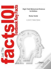 E-Study Guide For High-Yield Behavioral Science, Textbook By Barbara Fadem