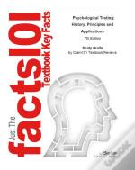 E-Study Guide For: Psychological Testing: History, Principles And Applications By Robert J. Gregory, Isbn 9780205959259