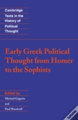 Wook.pt - Early Greek Political Thought From Homer To The Sophists