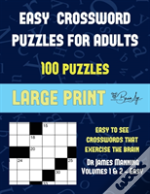 Easy Crossword Puzzles For Adults (Vols 1 & 2 - Easy)