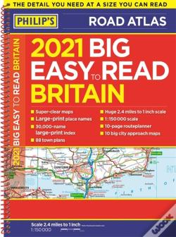 Wook.pt - Easy To Read Britain Road Atlas A3 2021