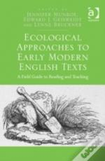 Ecological Approaches Early Modern Engli