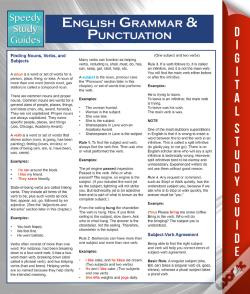 Wook.pt - English Grammar And Punctuation (Speedy Study Guides)