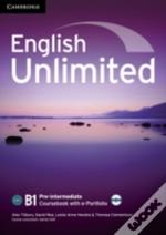 English Unlimited Pre-Intermediate Coursebook With E-Portfolio Cd-Rom And Workbook Without Answers With Dvd-Rom Pack Italian Edition