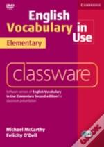 English Vocabulary In Use Elementary Classware