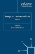 Essays On Levinas And Law