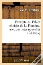 Excerpta Ou Fables Choisies Edition 1805
