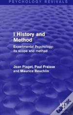 Experimental Psychology Its Scope And Method: Volume I