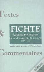 Fichte ; La Doctrine De La Science 1797-1798