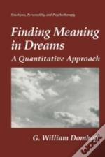 Finding Meaning In Dreams