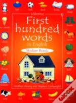 First Hundred Words Sticker Book In English