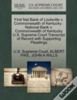 First Nat Bank Of Louisville V. Commonwealth Of Kentucky