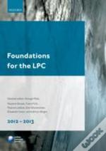 Foundations For The Lpc 2012-2013