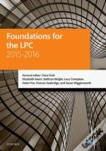 Foundations For The Lpc 2015-16
